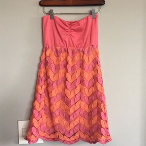 Judith March pink strapless dress small